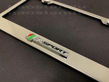 1x R-SPORT 3D Emblem STAINLESS STEEL License Plate Frame RUST FREE + Screw Cap