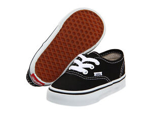 Toddler Vans Authentic Canvas VN-000ED9BLK 100% Authentic Shoe Black / White New