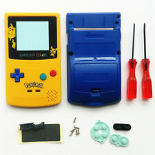 Gehäuse Hülle Case für Game Boy Color GBC Pokemen -Blau und Gelb,Blue Yellow
