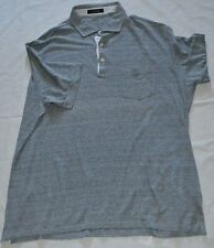 Ermenegildo Zegna Designer Grey Smart Custom/t Linen Polo Shirt 4XL/60