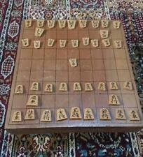 SHOGI BAN Board Table Game w/ Koma Piece set Traditional Japanese Chess Antique
