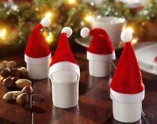 4pcs Mini Christmas Hats for  Home Decoration Father Christmas Xmas Hat Decor UK
