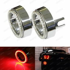 Red 40-SMD LED Angel Eyes Halo Rings w/ Shroud For Fog Lights Retrofit DIY