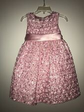 Girls Toddler American Princess Pink Floral Special Occasion Dress (2T)