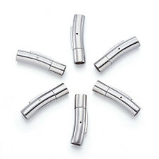 10Sets 304 Stainless Steel Bayonet Clasps Smooth Column Snap-In Closure 5mm Hole