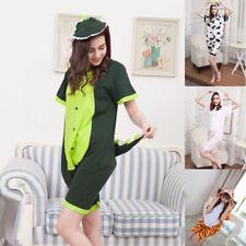 Adult Anime Onsies Pajamas Summer Unisex Kigurumi Cosplay Costume Cow Dinosaur
