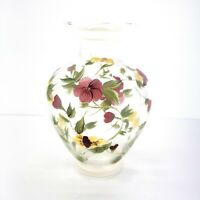 """Hand Painted Glass Vase 8.25"""" Tall"""