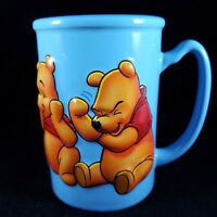 Disney Coffee Mug Winnie The Pooh 3D Blue Ceramic 16oz Tall Cup Store Exclusive