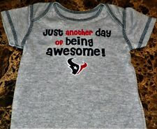 """NEW"" Houston Texans NFL ~ Logo INFANT CREEPER BODYSUIT ~ Boy's Sz 3M 6M Awesome"