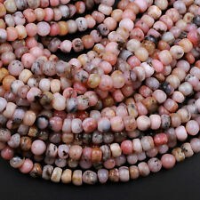 "Natural Peruvian Pink Opal 7mm 8mm Rounded Rondelle Beads Nuggets 16"" Strand"