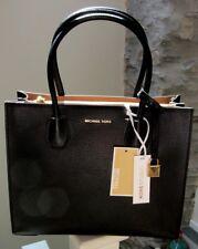 Michael Kors 100% MERCER Black Pebbled Leather Shoulder Tote Hand Bag NEW & TAGS