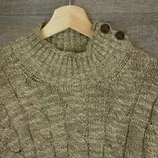 Polo Ralph Lauren Mens Mock Turtleneck Cable Ribbed Sweater Beige Size XL