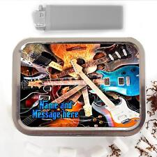 Electric Guitar Music Band 2oz Tobacco Tin Baccy Pouch Personalised Gift ST195