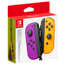 Nintendo Switch Joy-Con Neon Purple & Orange Controller Pair NEW