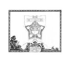 Antique map, Elegantissima et bene munita Arx Chrzistopora