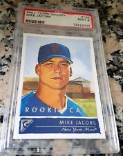 MIKE JACOBS 2001 Topps GALLERY Rookie Card RC SP PSA 9 MINT New York Mets 100HRs