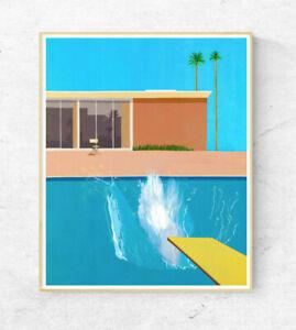 David Hockney Poster - A Bigger Splash - Wall Art Decor - A2 A3 A4