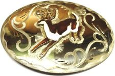 DEER with nice Rack Hand Made GERMAN SILVER USA Made Belt Buckle MAKE OFFER