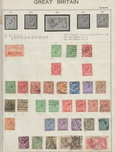 G118 ALBUM PAGE OF GB KG & KE STAMPS & OFFICIALS,SEAHORSES,POSTAGE DUES M & USED