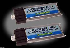 Latest Lectron Pro 3.7 volt 80mAh 15C Lipo Battery 2-Pack Blade Scout CX 2 pcs