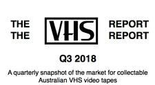 THE VHS REPORT Q3 2018 Australian Horror Video Ebay Price Guide zine fanzine