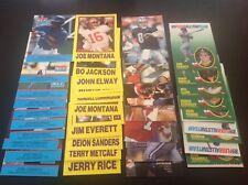 LOT (4) 1990s ODDBALL MLB & NFL STAR Glossy Sets, BO, MONTANA, GRIFFEY, ELWAY