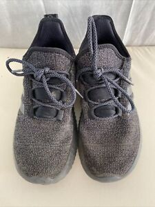 ADIDAS CLOUDFOAM Charcoal Flyknit Trainers Size UK 5
