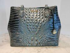 New BRAHMIN Medium Julian OBSIDIAN MELBOURNE Shoulder Bag Tote $295 EVERGREEN