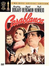 Casablanca (DVD, 2003, 2-Disc Set, Two Disc Special Edition) NEW Bogart Bergman