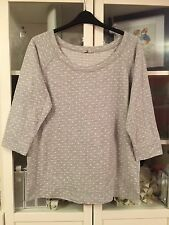 703 Tu Plus Sz 20 Grey&White Spotted Jumper/Sweater