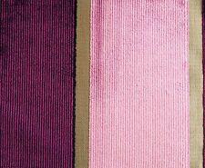 DESIGNERS GUILD Roumier Velvet Pink Purple Stripe Remnant New