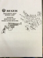 Exploded View Ruger Security -sixSpeed -six Police Service-six Double Act. Repro