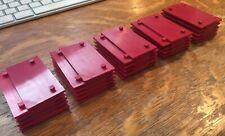 Fischertechnik Mounting Plates with Peg 30 X 60 Red-Lot Of 50 38249 Robotics