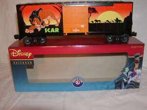 Lionel 6-82922 Disney Railroad Villains Scar Hi-Cube Box Car O 027 New 2017