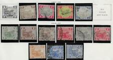 13 Malaya Fed. Malay States Stamps from Quality Old Antique Album 1901-1922