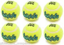 6 LARGE KONG AIR DOG SQUEAKER TENNIS BALLS - Bulk Big Dogs Fetch Toys