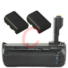 Battery Grip for Canon 7D BG-E7 camera + 2 LP-E6 1800mAh Battery