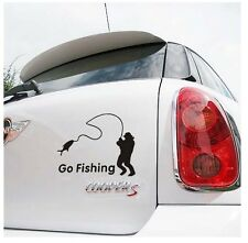 Go Fishing Black High Quality Car Styling Sticker Water Proof Vinyl Car Decals
