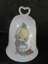 Enesco 1995 Precious Moments Mother Sew Dear Porcelain Bell