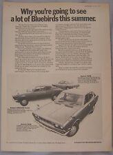 1972 Datsun 160B, 180B SSS Coupe & 180B Original advert