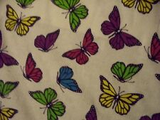 Pearlized Butterflies-Silver /& Yellow-Tossed on Black B//G-Fat 1//4-Kanvas Studio