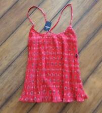 HOLLISTER by Abercrombie ~New! NWT Medium ~ BANDANA Print Accordion Strappy Tank