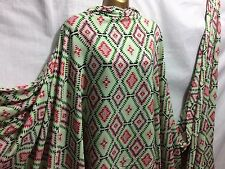 *NEW*L/Weight Smooth Polyester Aztec-Ethnic Print 4 Dress/Craft Fabric*FREE P&P*
