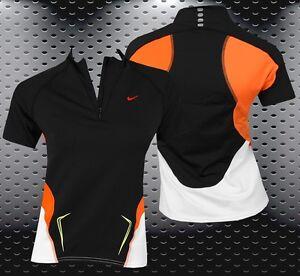 Nike Girl Dri-Fit Running Shirt Sports Functional Polo Children Black