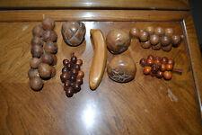 Vintage wooden fruit.