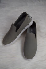 NEW DKNY Donna Karan New York Gray Leather Slip On Shoes Sneakers Sz 5