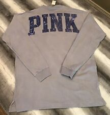 Victoria Secret PINK Long Sleeve Bling Sequin Shirt Size XS