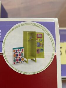 My American Girl Doll School Locker Set & Accessories Lime Green Metal - W/ Box!