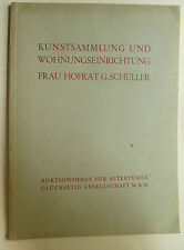 Frau Hofrat G. Schüller, Auktionshaus Glückselig Gesellschaft, Versteigerung