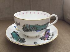 Royal Worcester England Antique Cars China Cup/Saucer